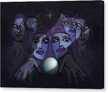062 - Demons B Canvas Print by Irmgard Schoendorf Welch
