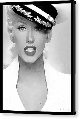 # 1 Christina Aguilera Portrait. Canvas Print by Alan Armstrong