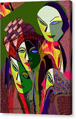 107 -  Cubic Canvas Print by Irmgard Schoendorf Welch