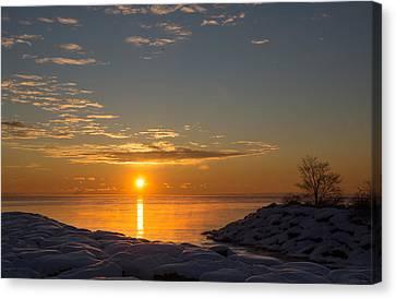 Canvas Print featuring the photograph -15 Degrees Sunrise by Georgia Mizuleva