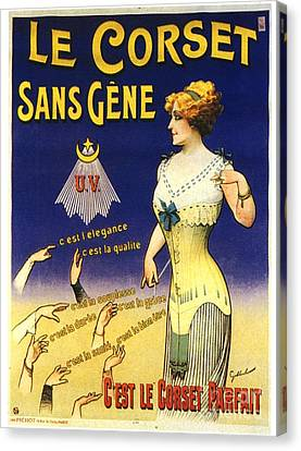 1890s France Womens Underwear Corsets Canvas Print by The Advertising Archives