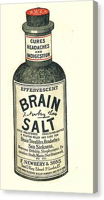 1890 Canvas Print -  1890s Uk Brain Salt Headaches Humour by The Advertising Archives