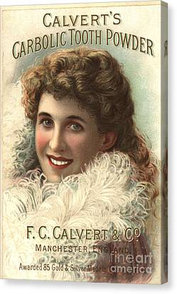 1890s Uk Calvert Toothpaste Canvas Print by The Advertising Archives