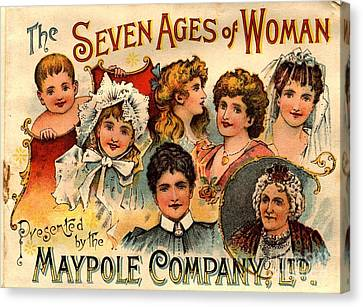 1890s Uk Maypole Ageing The Seven Ages Canvas Print by The Advertising Archives