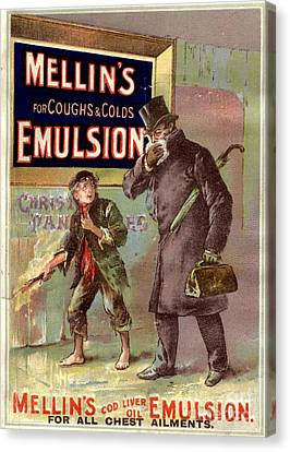 1890s Uk Mellin�s Emulsion Coughs Canvas Print by The Advertising Archives