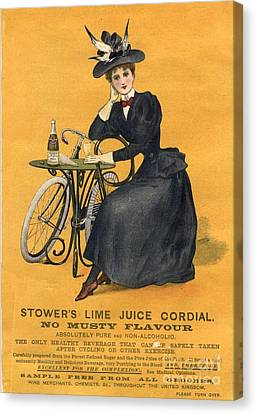 1890s Uk  Stowers Lime Juice Cordial Canvas Print by The Advertising Archives