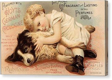 1890s Usa Babies Hoytes Cologne Dogs Canvas Print by The Advertising Archives