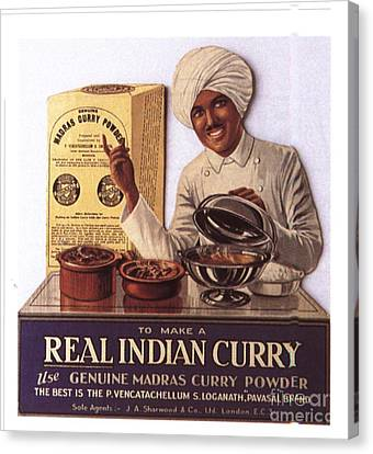 1910s Uk Indian Food Curry Warning - Canvas Print by The Advertising Archives