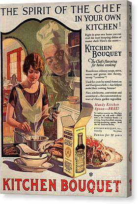 1910s Usa Cooking Kitchens Bouquets Canvas Print by The Advertising Archives