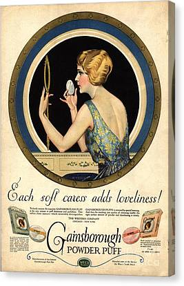 1910s Usa Pampering Make-up Makeup Canvas Print by The Advertising Archives
