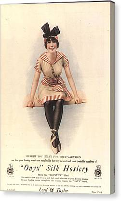 1915 1910s Usa Onyx Silk Stockings Canvas Print by The Advertising Archives