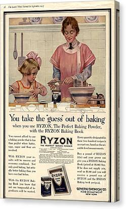 1917 1910s Usa Cooking Ryzon Baking Canvas Print by The Advertising Archives