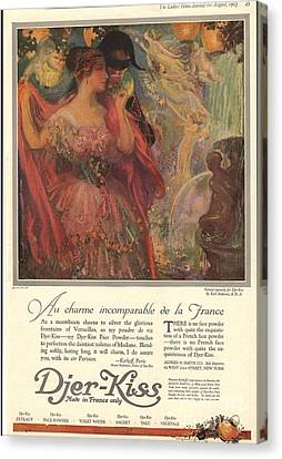 1918 1910s Usa Djer-kiss Talcum Canvas Print by The Advertising Archives