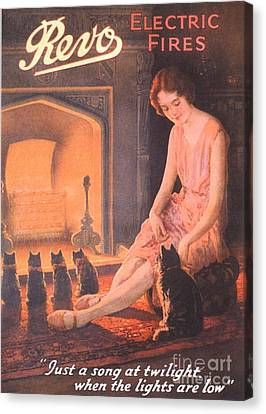 1920s Uk Fires Cats Revo  Appliances Canvas Print by The Advertising Archives