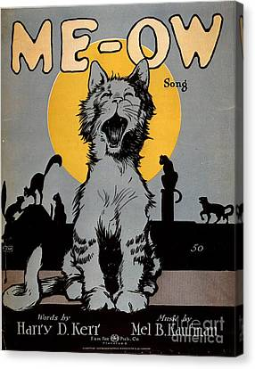 1920s Usa Cats Me-ow Meow Canvas Print by The Advertising Archives