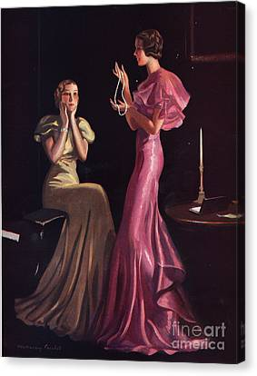 1930s Uk Womens Evening Gowns Dresses Canvas Print by The Advertising Archives