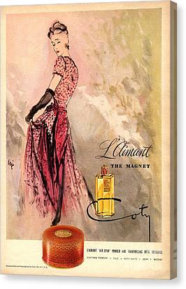 1940s Usa Coty   Laimant Womens Canvas Print by The Advertising Archives