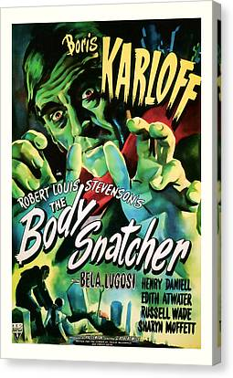 1945 The Body Snatchers Vintage Movie Art Canvas Print by Presented By American Classic Art