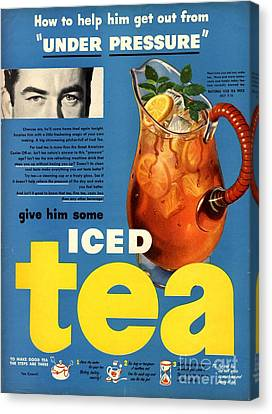 1950s Usa Iced Tea Canvas Print by The Advertising Archives