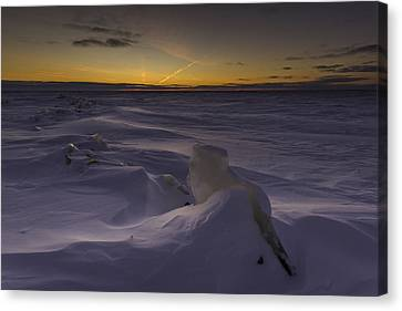 -25 Freezing Sunset Canvas Print