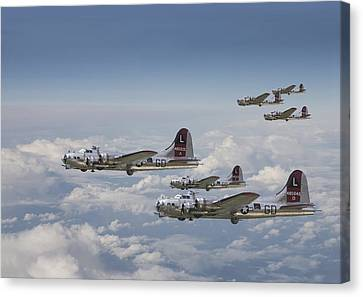 B17 Canvas Print -  381st Group Outbound by Pat Speirs