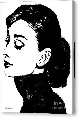 # 4 Audrey Hepburn Portrait. Canvas Print by Alan Armstrong