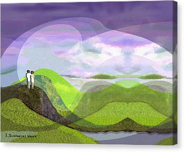 537 -  Approach Of Darkness Canvas Print by Irmgard Schoendorf Welch