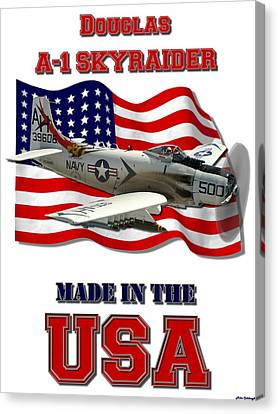 A-1 Skyraider Made In The Usa Canvas Print