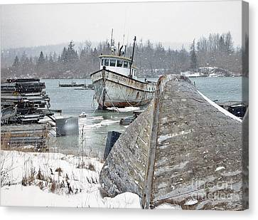 A Bit Of Maine History Canvas Print by Christopher Mace