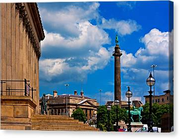 A Digitally Converted Painting St Georges Hall Liverpool Canvas Print by Ken Biggs