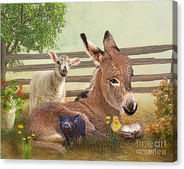 Ducklings Canvas Print -  A Little Rest by Trudi Simmonds