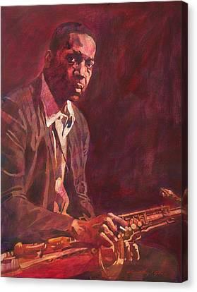 A Love Supreme - Coltrane Canvas Print by David Lloyd Glover