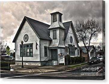 A Spooky Looking Church In Chino Canvas Print by Gregory Dyer