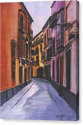 A Street In Seville Spain Canvas Print