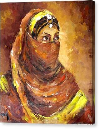 A Woman Canvas Print by Negoud Dahab