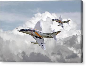 A4 - Skyhawks Canvas Print by Pat Speirs