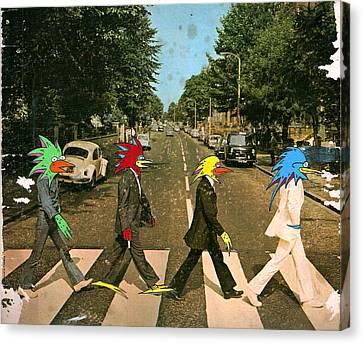 Abbey Road Lasor Beatles Canvas Print by Futur  Lasor Now