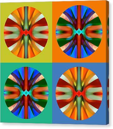 Abstract Circles And Squares 2 Canvas Print by Amy Vangsgard