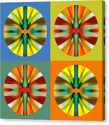 Abstract Circles And Squares 3 Canvas Print by Amy Vangsgard