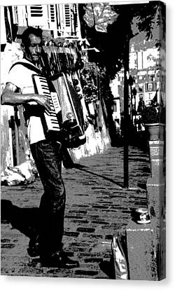 Accordioniste Canvas Print by Jacqueline M Lewis