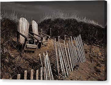Adirondack Beach Chairs  Canvas Print