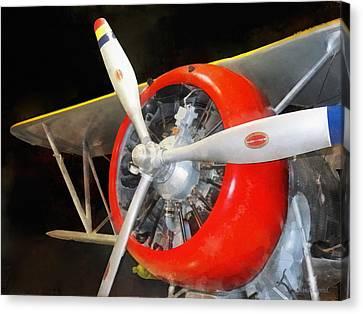 Plane Canvas Print -  Airplane - F3f-2 Biplane by Susan Savad
