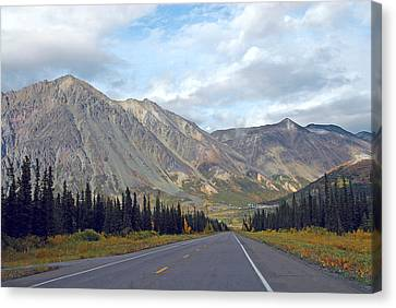 Canvas Print featuring the photograph  Along The Parks Highway  by Dyle   Warren