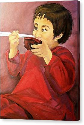 Canvas Print featuring the painting  Asian  Doll by Sharon Duguay