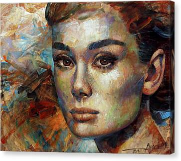 Audrey Hepburn Canvas Print by Arthur Braginsky