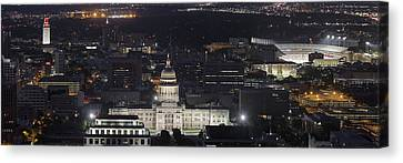 Panorama Of The State Capitol From The Austin Skyline Canvas Print