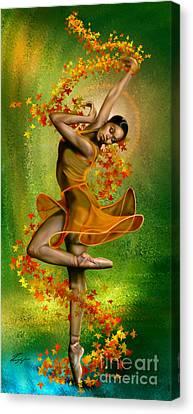 Autumn Zephyr -  Seasonal Winds Series 1 Of 4 Canvas Print by Reggie Duffie
