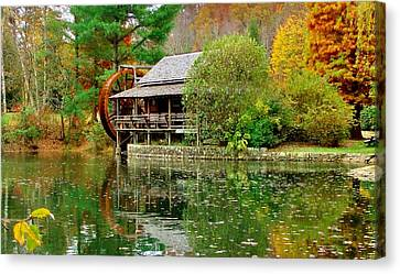 Autumn's Reflection Canvas Print by Hominy Valley Photography