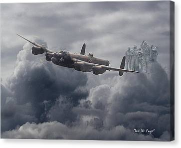Memorial Canvas Print -    Avro Lancaster - Aircrew Remembrance by Pat Speirs