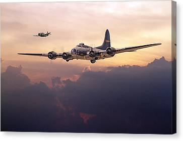 B17- Last Home Canvas Print by Pat Speirs
